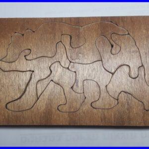 פזל דב – עץ עבה – עבודת יד