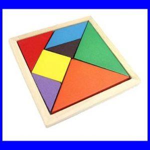 פזל דו מימדי צבעוני 7 חלקים 100% עץ